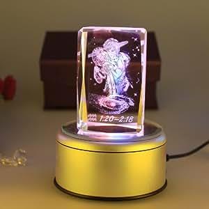 【情人节新年梦幻】妻子3D内雕礼物水晶炫彩双鱼座对星座出轨图片