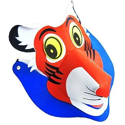 节日晚会动物搞怪造型道具亲子活动头饰成品 无需再制作 老虎1 17013