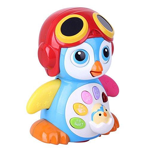 春天宝宝摇摆企鹅电动动物 声光玩具 益智早教 音乐古诗 儿童玩具