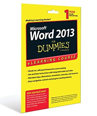 Word 2013 For Dummies eLearning Course Access Code Card.pdf