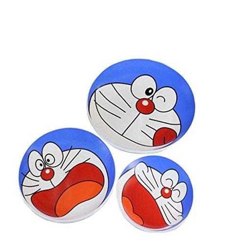 猫叮当猫陶瓷表情盘 可爱卡通水果点心零食碟子 (大中小一套(3个装))