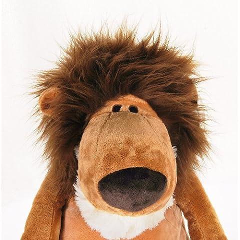 最好玩的就是给狮子梳理发型图片