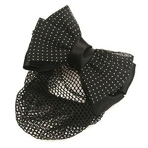 健祥 发圈 横夹 侧夹 发夹 职业员工头花 发网 横夹波点多色蝴蝶结弹簧夹