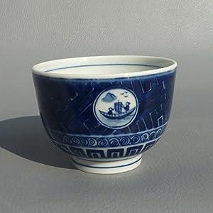 景德镇陶瓷茶具青花小茶杯手绘图案山水仿古