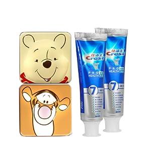 Crest佳洁士全优7效牙膏90g两支礼品装(送维尼收纳对盒) 23.9元包邮