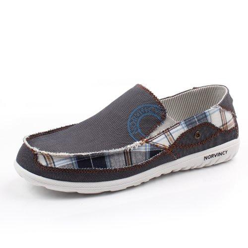NORVINCY 诺凡希 牛仔帆布 潮流板鞋 帆布鞋 男 单鞋 休闲鞋透气鞋 NVC12024 3.28