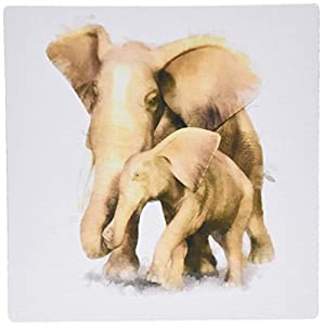 25 inches mouse pad, elephant mother and child (mp_38670_1)