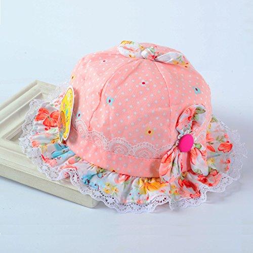 小浣童 纯棉婴儿帽子幼儿遮阳帽女宝宝太阳帽0-3-6-9个月盆帽胎帽春秋