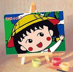 樱桃小丸子水彩手绘