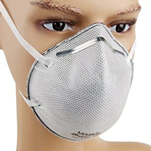 MASkin 613505 活性炭加强型 5只装 头戴式 杯型防护口罩 (美标N95级 去除PM2.5粒子) 34元包邮