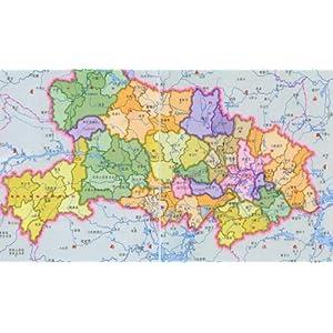 湖北省地图-最新版/陈振国-图书-亚马逊中国