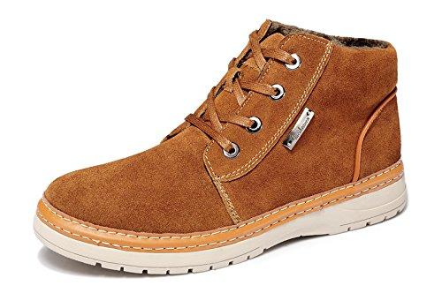 Guciheaven 时尚潮流男靴 高帮男靴子 户外休闲鞋 反毛牛皮男鞋 加绒男靴子 保暖休闲板鞋