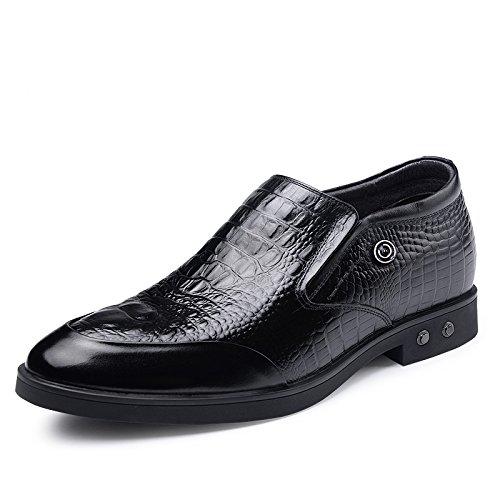 2015秋季新款男士内增高商务套脚皮鞋6.5厘米WZ8595