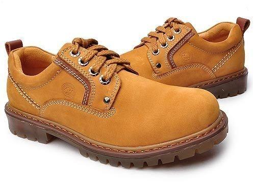 Camel 骆驼 防滑耐磨牛皮系带大头休闲工装鞋 男 男休闲鞋 11101791 浅棕 brown