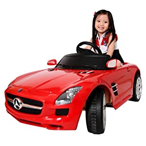 星辉 儿童电动童车1:4奔驰sls 81600红色 宝宝汽车四轮车高清图片