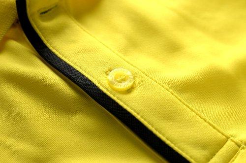 李宁LINING正品黑/荧光黄色有领羽毛球运动服上衣装男士款 L码