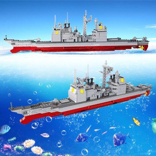 小鲁班乐高式拼装积木巡洋舰