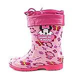 Disney 迪士尼 儿童雨鞋 春夏款 超软卡通水晶防滑 男童女童 宝宝水鞋 婴童雨鞋 米奇米妮款 8码【赠鞋垫】 (33码/内长21cm, 米妮粉色)-图片