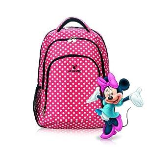 迪士尼米妮可爱波点红色 双肩包 双肩电脑包 14寸笔记本电脑包 女士