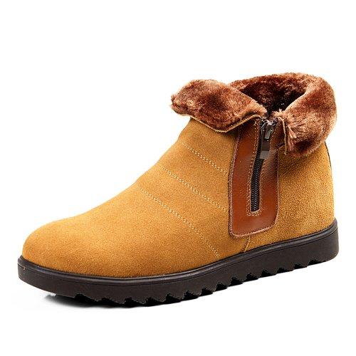 Gog 高哥 内增高男靴 短筒男士雪地靴男士棉靴 低筒靴增高短靴雪地棉鞋