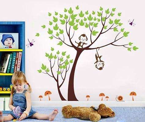 幼儿园教室布置墙贴纸卡通儿童房背景墙饰