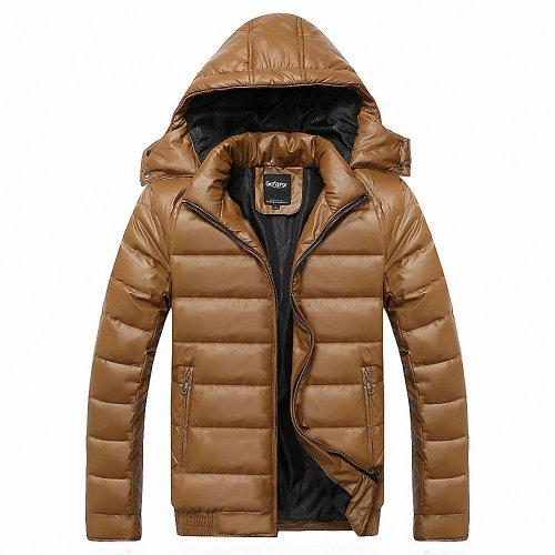 格男仕 短款羽绒服纯色保暖男 男士羽绒服外套