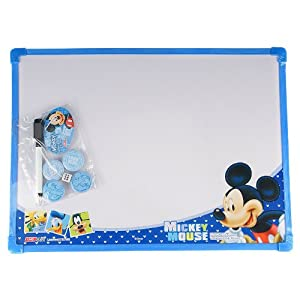 disney 迪士尼 中号双面白板五子棋画画书写板写字留言送笔 蓝色 dm