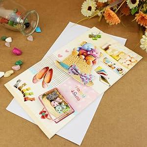 亿梦 儿童贺卡 祝福卡 教师节贺卡 生日卡片公司员工生日大卡父亲节