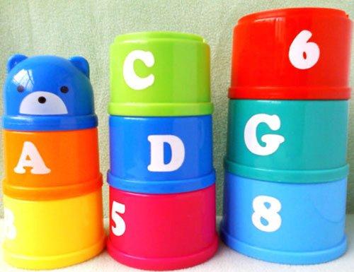 HABIBI 小熊趣味叠叠乐叠杯 早教玩具益智玩具-图片