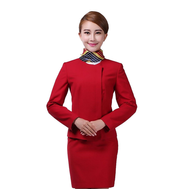 空姐礼仪_金色佳艺 航空制服企业公司前台礼仪接待服装空姐制服