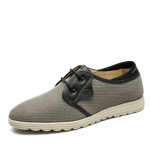 Camel 骆驼 男鞋新品 男士日常休闲鞋时尚休闲透气舒适网布系带鞋A422136010