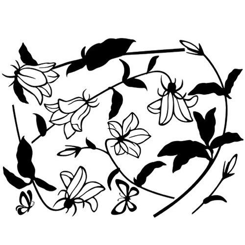 韩国ecoworldgps-078桔梗花(黑色)il09179bk墙贴图片