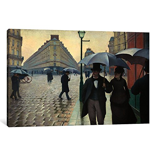 <strong>paris</strong> street a rainy day canvas print by gustave caillebotte