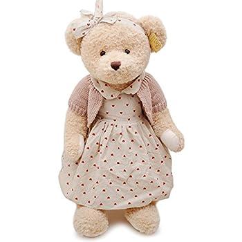 瑞奇比蒂 lovely bear泰迪熊 红色爱心裙公主熊 大号