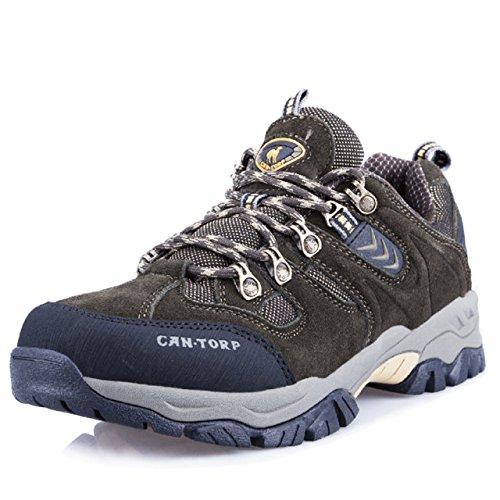 cantorp 骆驼男式户外登山鞋秋冬新款保暖耐磨防滑低帮鞋 男式商务休闲鞋LT-E13016