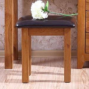 富象 橡木化妆凳 实木梳妆凳 梳妆台凳子 时尚宜家换鞋凳 欧式凳子