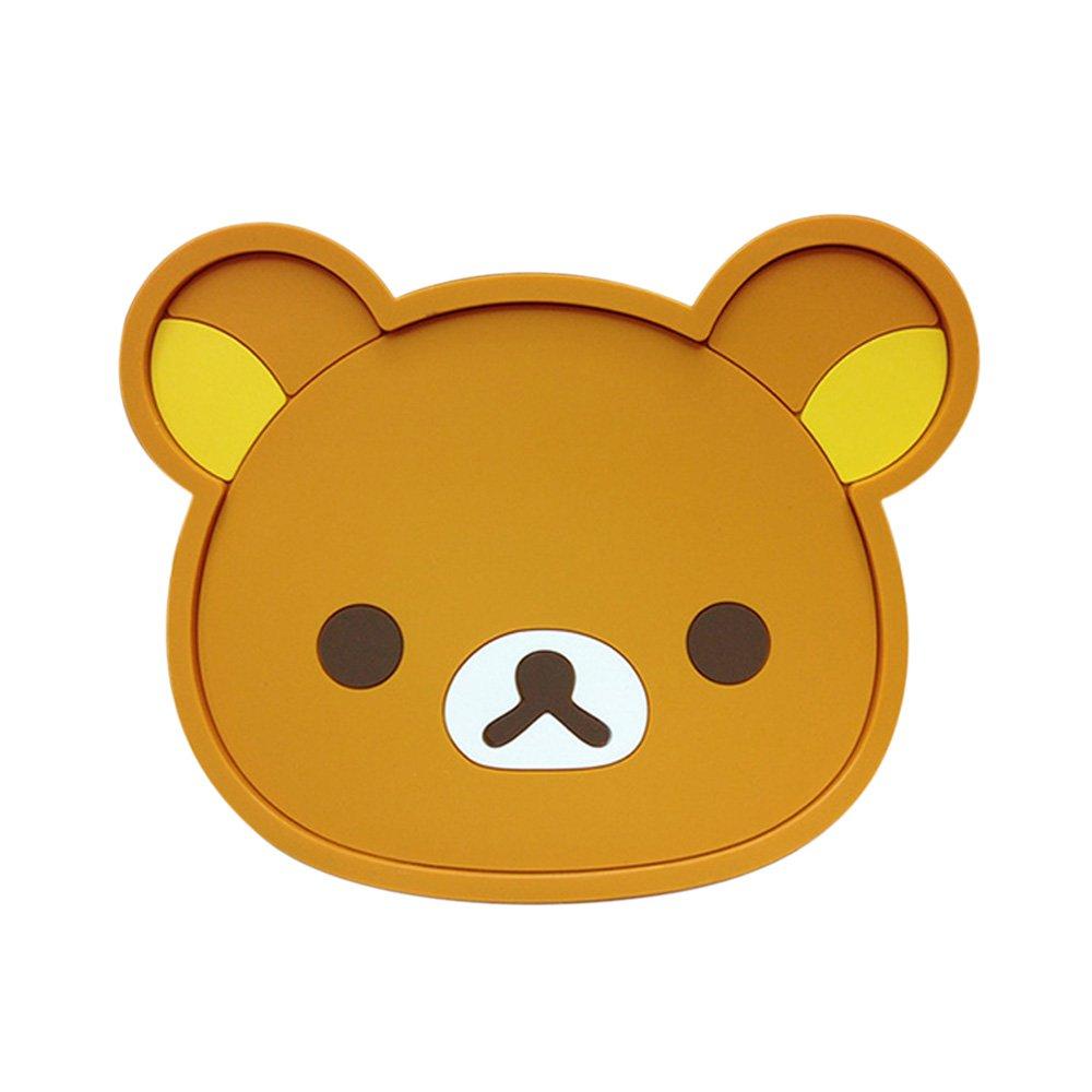 木晖(muhui)可爱卡通叮当猫轻松熊硅胶隔热垫 茶杯垫