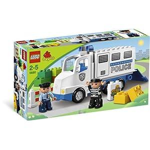 乐高警车玩具图片