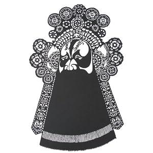 韵美 中国剪纸-京剧脸谱-项羽-特色工艺品-家居装饰画