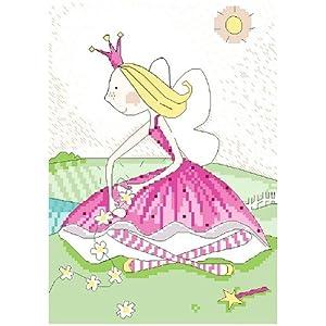 万众家园 十字绣 客厅卧室人物画 可爱卡通 小公主之鲜花 11ct rs线 3