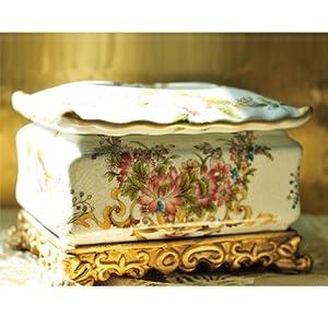 欧风剪影 欧式复古奢华纸巾盒家居装饰客厅创意摆件