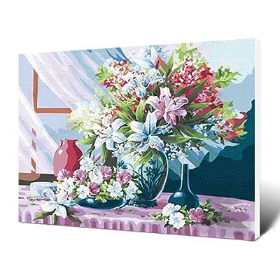 佳彩天颜 diy手绘数字油画 客厅风景花卉手绘装饰画 晨沐阳光 其他