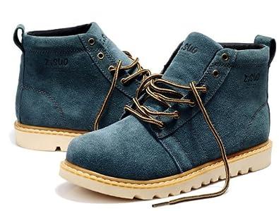 Zsuo 型男大爱超酷系带真皮靴 美国大兵海豹陆战队时尚战靴 潮男必备马丁靴牛仔靴工装靴男靴男鞋
