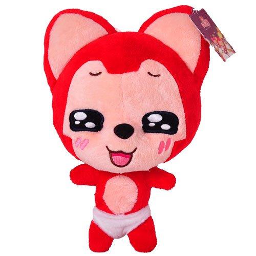 正版阿狸毛绒公仔超可爱红色抱抱狸动漫卡通玩具情侣圣诞礼物图片