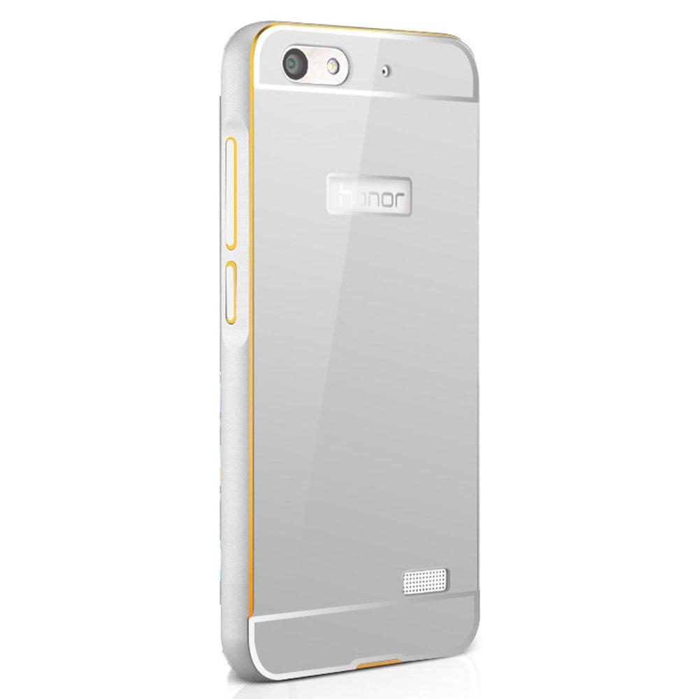 行岛 荣耀4c手机壳 华为荣耀4c手机套 金属边框 pc后盖 华为c8818手机