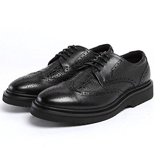 tony walker 汤尼沃珂 蛇皮纹男士真皮单鞋英伦雕花牛皮鞋低帮鞋