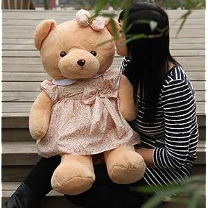 可爱穿衣服熊熊淑女熊公仔毛绒玩具玩偶布