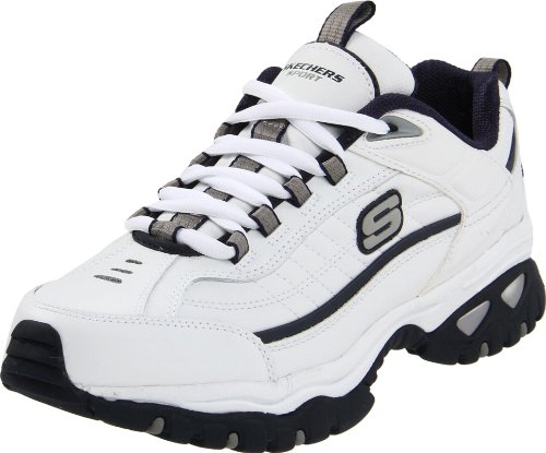 Skechers Sport Men's Energy Afterburn Lace-Up Sneaker,White/Navy,8 M US