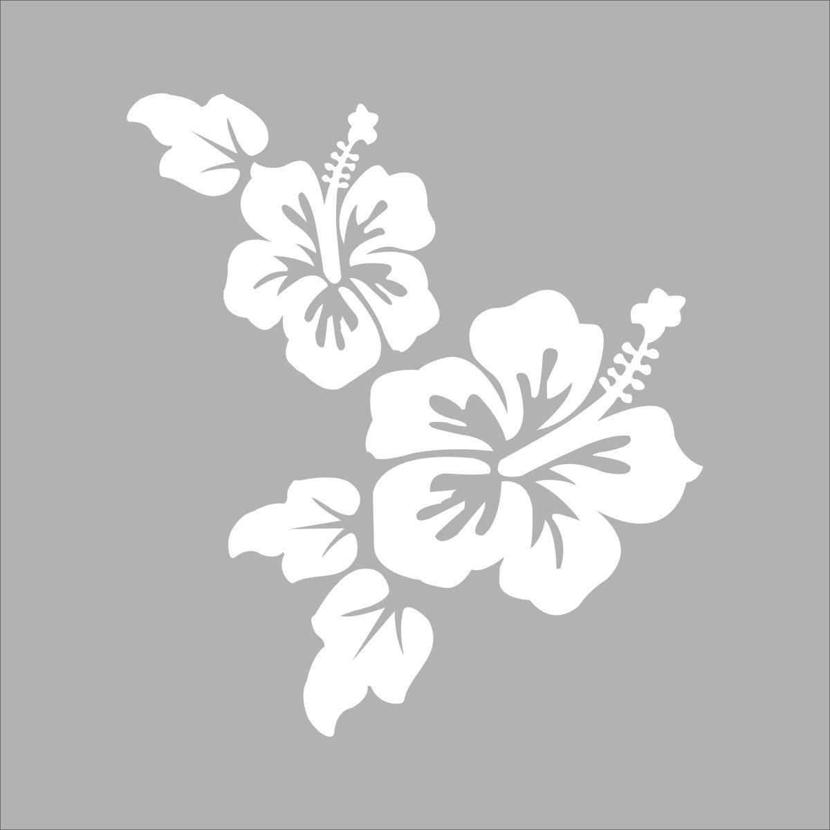 sk 深卡 个性运动花纹图案车身随意贴系列24款 白色 15厘米