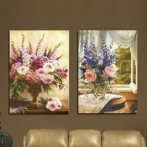 美时美刻 欧式油画花卉花瓶静物壁画客厅装饰画餐厅挂